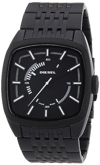 Diesel DZ1586 - Reloj analógico de cuarzo para hombre, correa de acero inoxidable chapado color