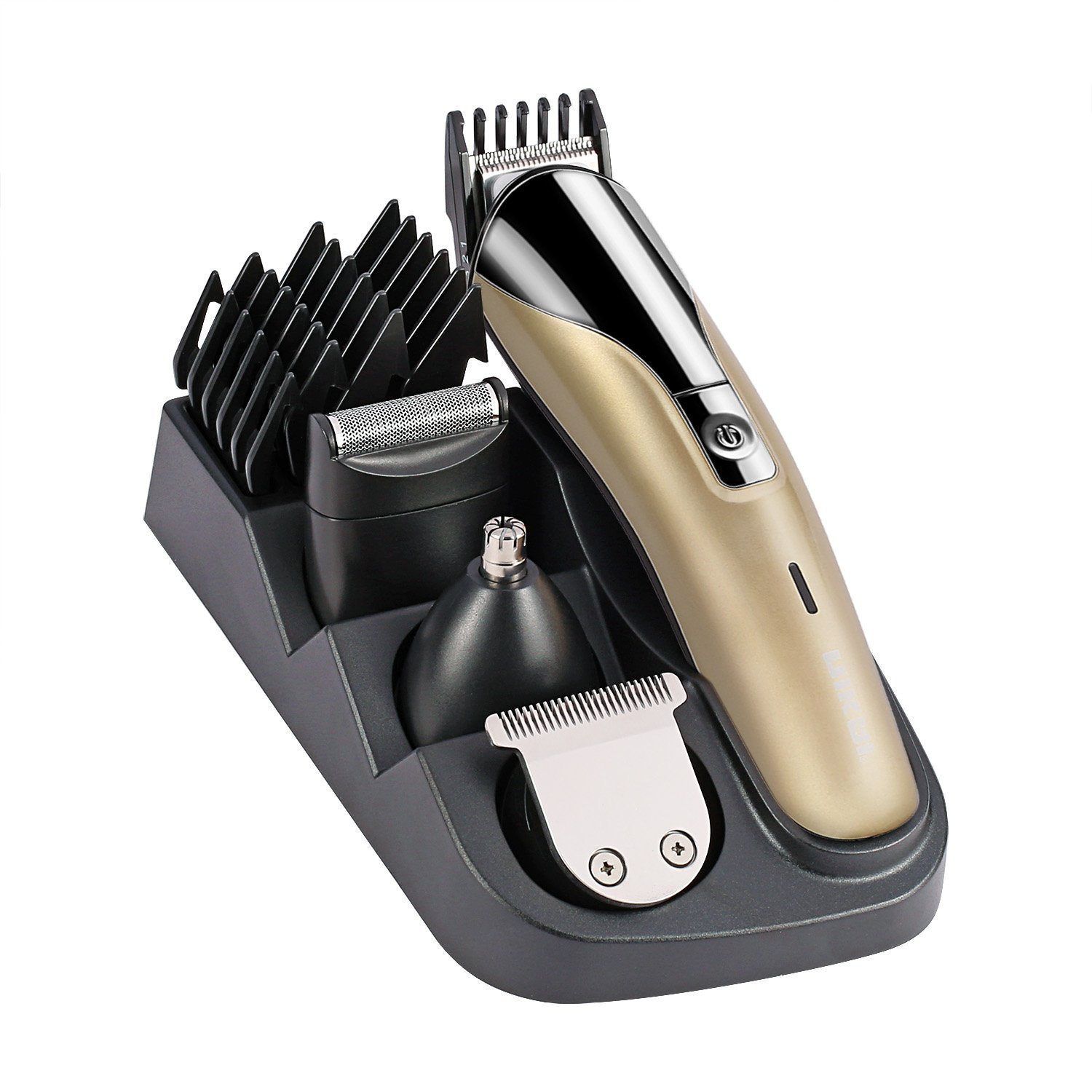 YUNAI Professional 8 in 1 Electric Blade Men's Trimmer of Body & Ear & Nose Mens Hair Clipper Electric Shaver Razor Beard Trimmer Rechargeable Haircut Electric Nose Ear Hair Trimmer Shaver Cordless by YUNAI