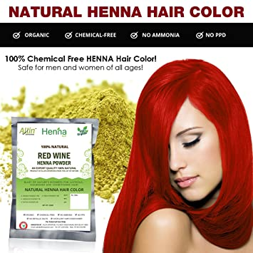 Amazon Com Red Wine Henna Hair Color 100 Organic And Chemical