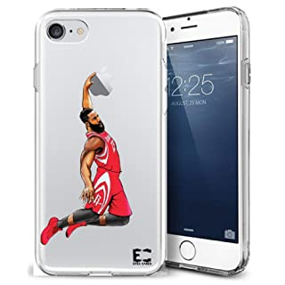 Epic Cases iPhone Case, for Apple iPhone, Ultra Slim Transparent Dominate the Basketball Court Series - Fear the Beard Harden, Clear Sports Case (iPhone) (iPhone 6)