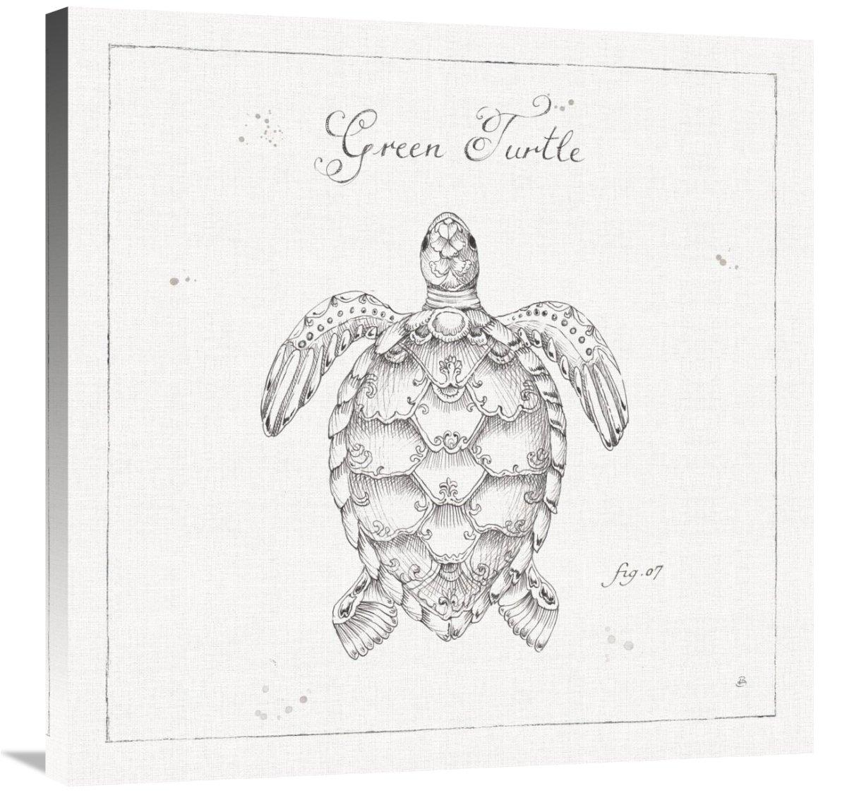 Global GalleryDaphne Brissonnet Underwater Life VIII Giclee Stretched Canvas Artwork 30 x 30