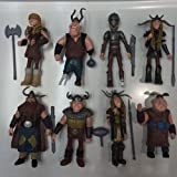 TL Newly Designed Set of 8 Pcs How to Train Your Dragon Hiccup Astrid Stoick Action Figures Toys by Purchaseforeasy