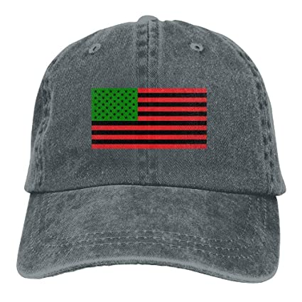 Amazon.com   Personality Caps Hats Unisex African American Flag Red ... d38ac2b0f90