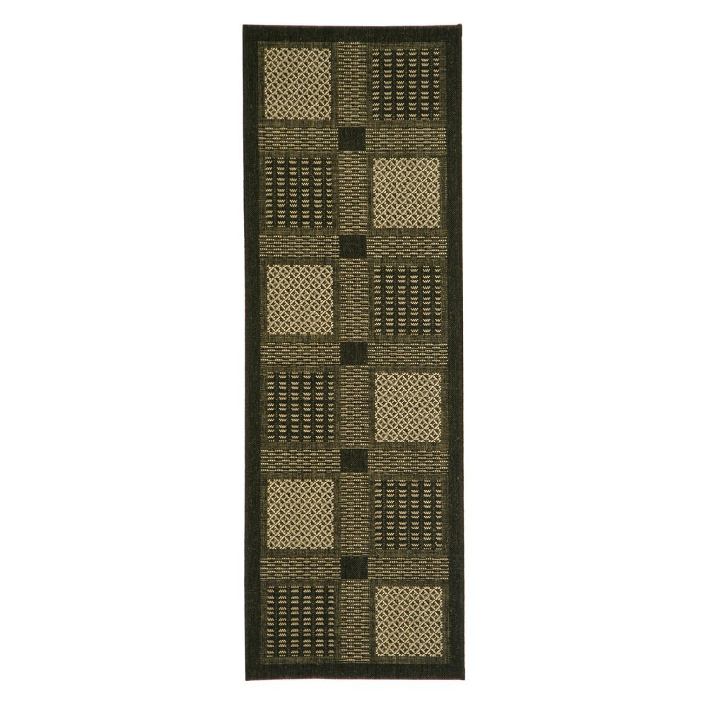27 x 5 CY1928-3009-3 Safavieh Courtyard Collection CY1928-3009 Brown and Natural Indoor// Outdoor Area Rug