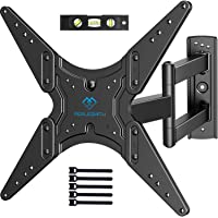 PERLESMITH TV Wall Mount for Most 26-55 Inch Flat Curved TVs with Swivels, Tilts & Extends 19.5 Inch - Wall Mount TV Bracket VESA 400x400 Fits LED, LCD, OLED, 4K TVs Up to 88 lbs