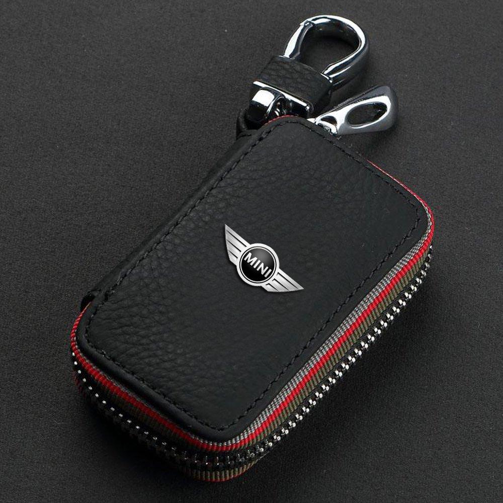B M W Mini-Schlüsselanhänger, Schlüsselanhänger für KFZ-Schlüssel mit Fernbedienung, Schlüsselhülle, weiche Schlüsselanhängerhülle F88–009