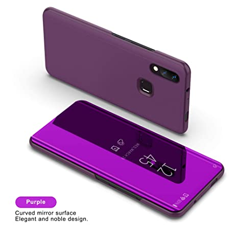 SHIEID® Honor 8X Funda Espejo Flip Case para Honor 8X(Rosa púrpura)