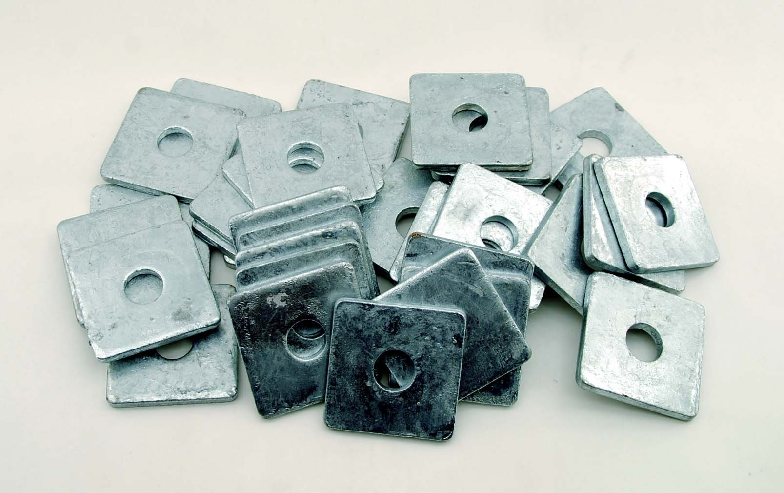 (10) Galvanized 3/4 x 2-3/4 Square Plate Washers 5/16 Thick by Lexar Industrial