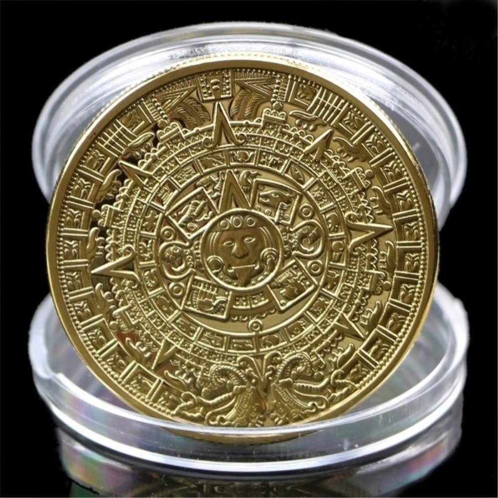 DDTing Calendrier azt/èque Maya Plaqu/é Argent Souvenir Souvenir Collection pi/èce de Monnaie GoodService Silver