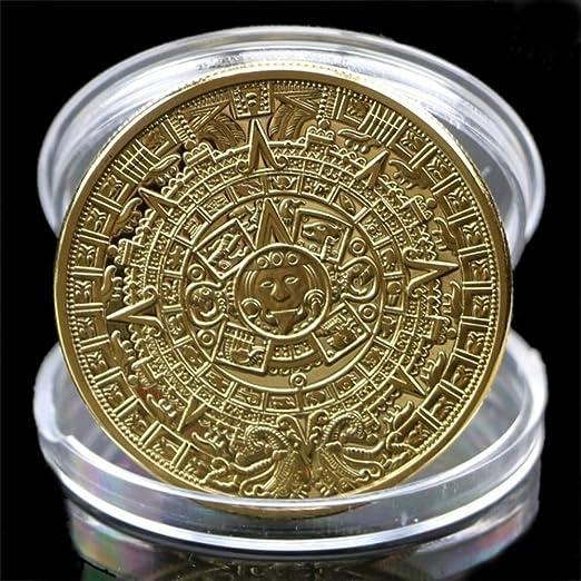 YunBest Colección de monedas conmemorativas aztecas y mayas en un calendario con chapas de EE. UU.: Amazon.es: Hogar