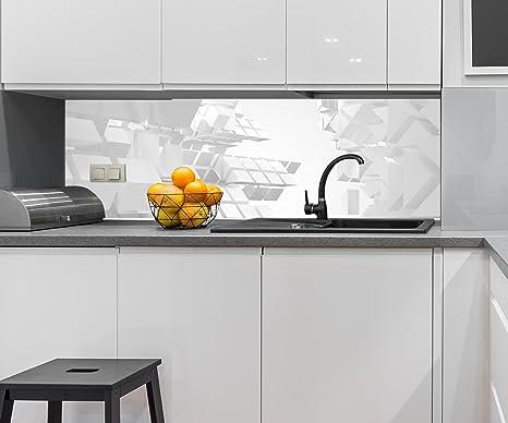 Wandmotiv24 Kuchenruckwand Verruckte Architektur Weisser