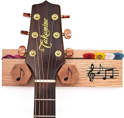 Gancho para guitarra con soporte para púas. Soporte decorativo de ...