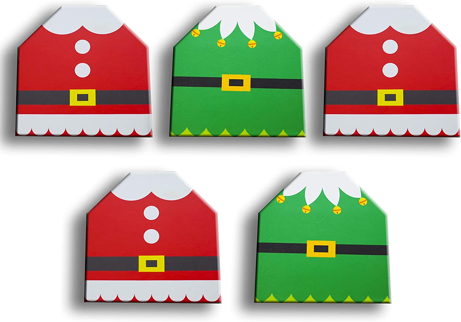 Elf and Santa Christmas Gift Card Holders