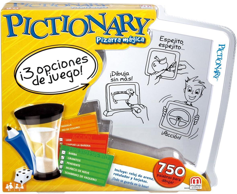 Mattel Games Pictionary pizarra mágica, juego de mesa infantil ...