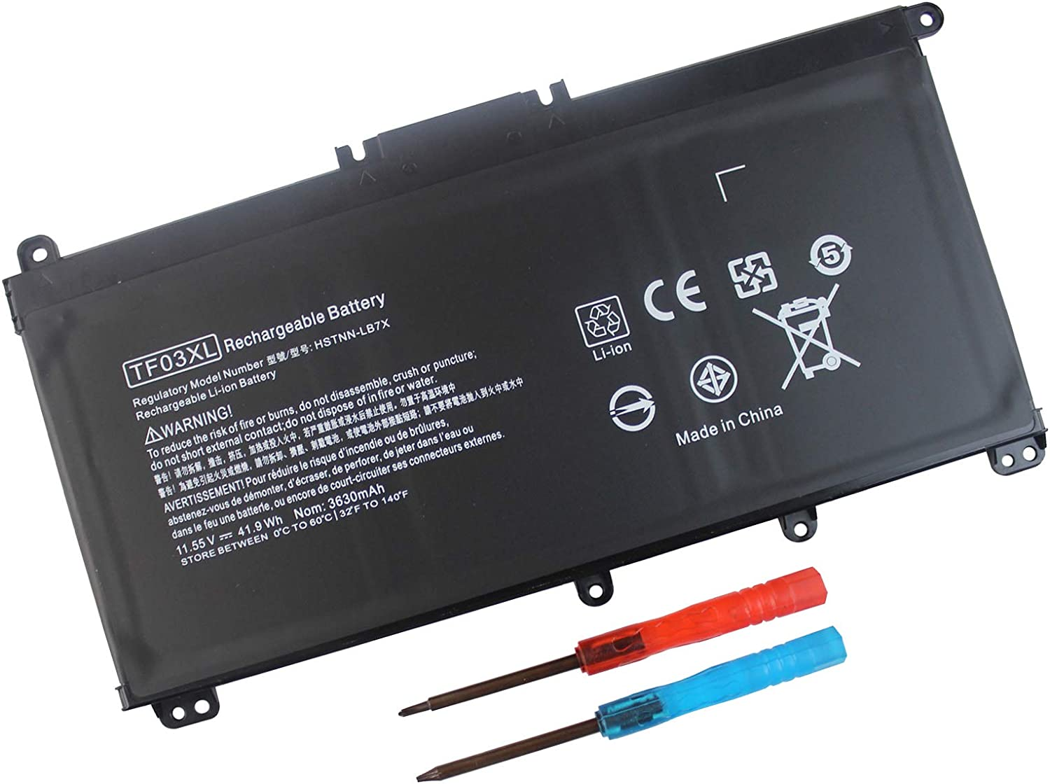 TF03XL 920070-855 Battery for HP Pavilion 15-CC023CL 15-CC050WM 15-CC563ST 17-AR050WM 15-CC 15-CD 14-BF Series 920046-421 920046-121 920046-541 HSTNN-LB7X HSTNN-IB7Y HSTNN-LB7J - 12 Months Warranty
