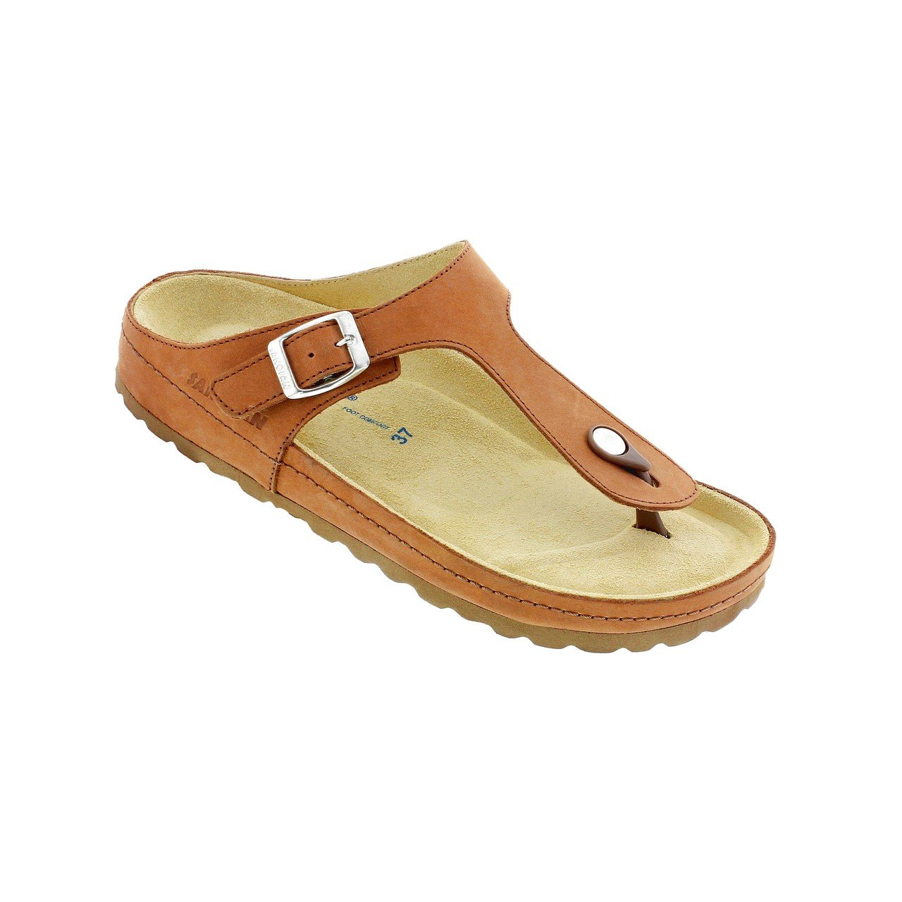 Comfort Plus Sanosan Womens Georgia Thong Sandals in Nubuck Leather