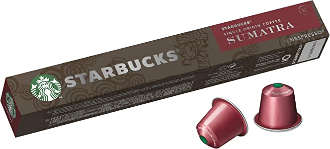 Starbucks by Nespresso Single Origin Sumatra Coffee Pods 10 Capsules