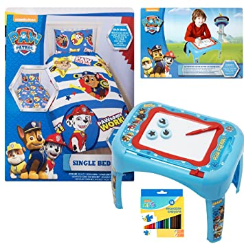 Official Licensed Paw Patrol Bedroom Bundle Set including Paw ...