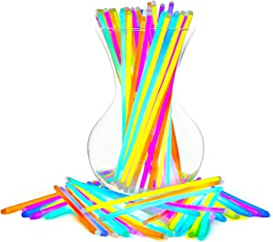 "Glow Sticks Bulk Party Favors 100pk - 8"" Glow in The Dark Party Supplies, Light Sticks for Neon Party Glow Necklaces and Bracelets for Kids or Adults"