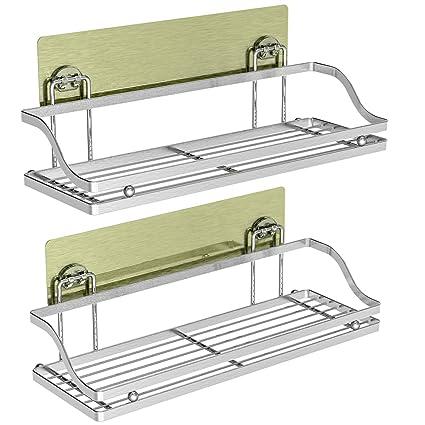 Amazon.com: iSEPCLE - Estante adhesivo para baño, 2 unidades ...