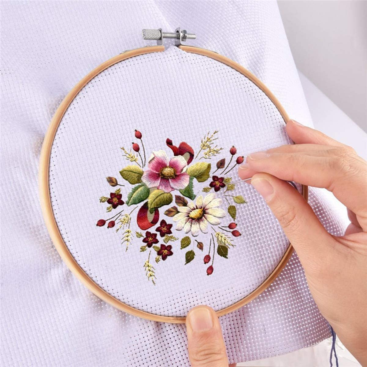 11 Count 5 Pieces Classic Reserve Aida Cloth Cross Stitch Cloth 12 by 12-Inch White