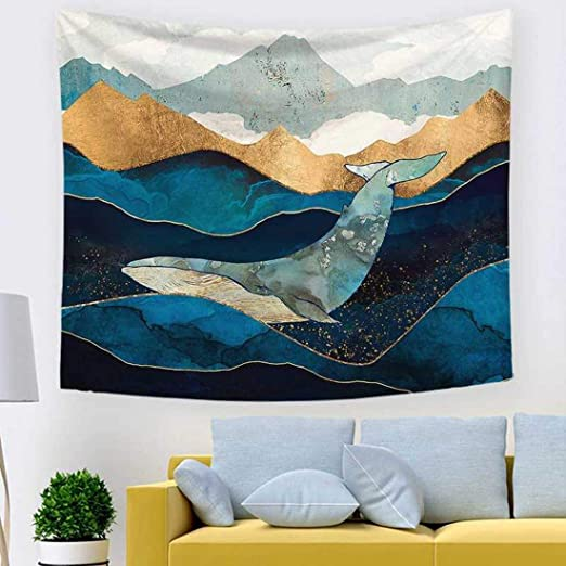 78.7 x 58.3 LIGICKY Sunset Mountain Tapestry Wall Hanging Abstract Design Nature Landscape Printed Art Wall Tapestries Home Decoration for Living Room Bedroom Dorm