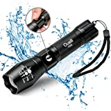 Ousili LED Tactical Flashlights 1000 Lumen Rechargeable High Bright Flashlight, With Charger and Car Charger for Outdoor(Battery Included)