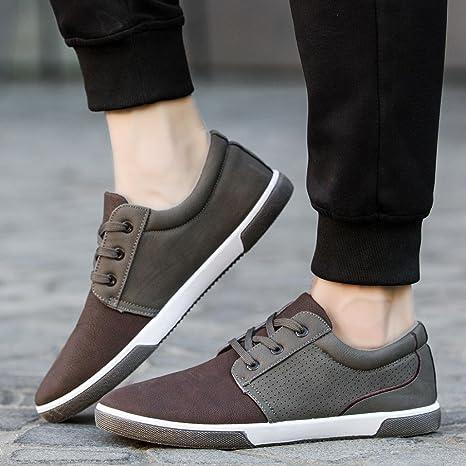 d5721e705a0f7 Hemlock Flat Shoes Mens, Men's Casual Shoes Sport Shoes Men Lace Up Loafers  Moccasins Male Shoes (US:8, Brown)