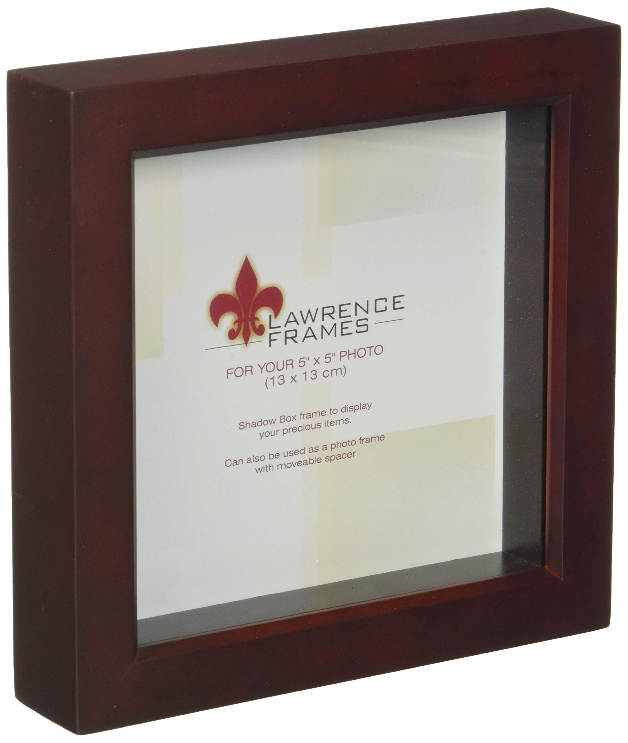 Lawrence Frames 795155 Wood Treasure Shadow Box Picture Frame, 5 X 5 Inch, Espresso by Lawrence Frames