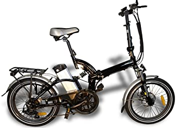 Bicicleta eléctrica sobrevolar G5 bicicleta eléctrica e-Bike plegable City Bike E-bicicleta negro