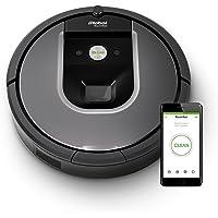 iRobot Roomba Aspirateur Robot, système de nettoyage anti -emmêlement avec capteurs de poussière Dirt Detect, aspire tapis et sols durs, idéal pour les poils d'animaux, connecté en Wi-Fi, argent