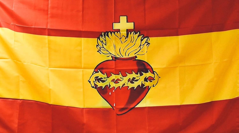 Gemelolandia Bandera Sagrado Corazón 90x150cm: Amazon.es: Ropa y ...