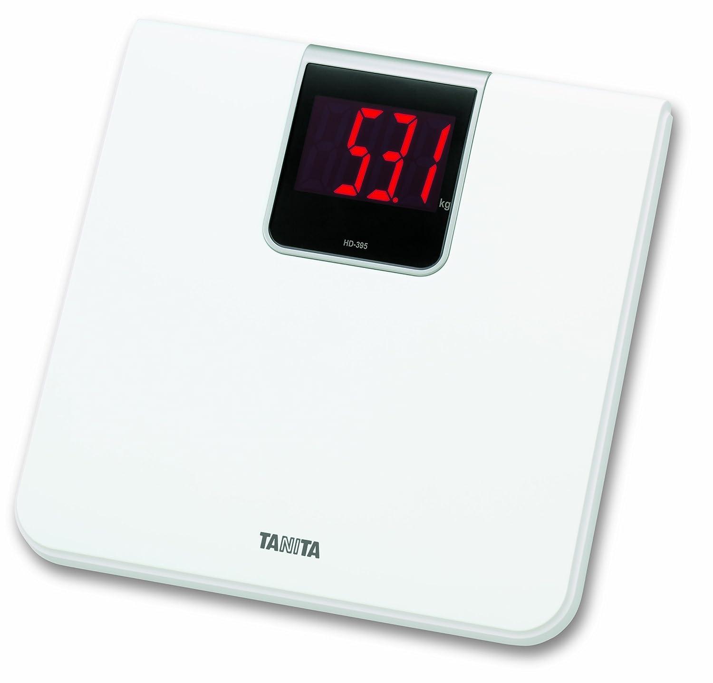 Tanita HD-395 WH - Bilancia digitale da bagno, bianca HD395WH