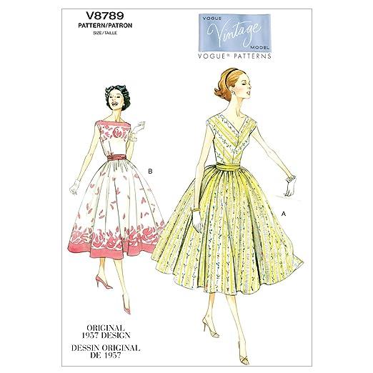 Amazon Vogue Patterns V40 MissesMisses Petite Dress And Amazing Vintage Vogue Patterns