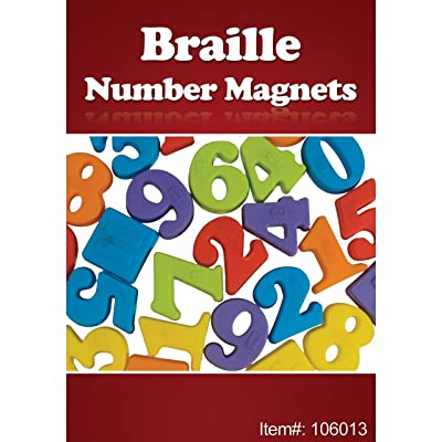 Braille Number Magnets - 27 Pieces: Health & Personal Care