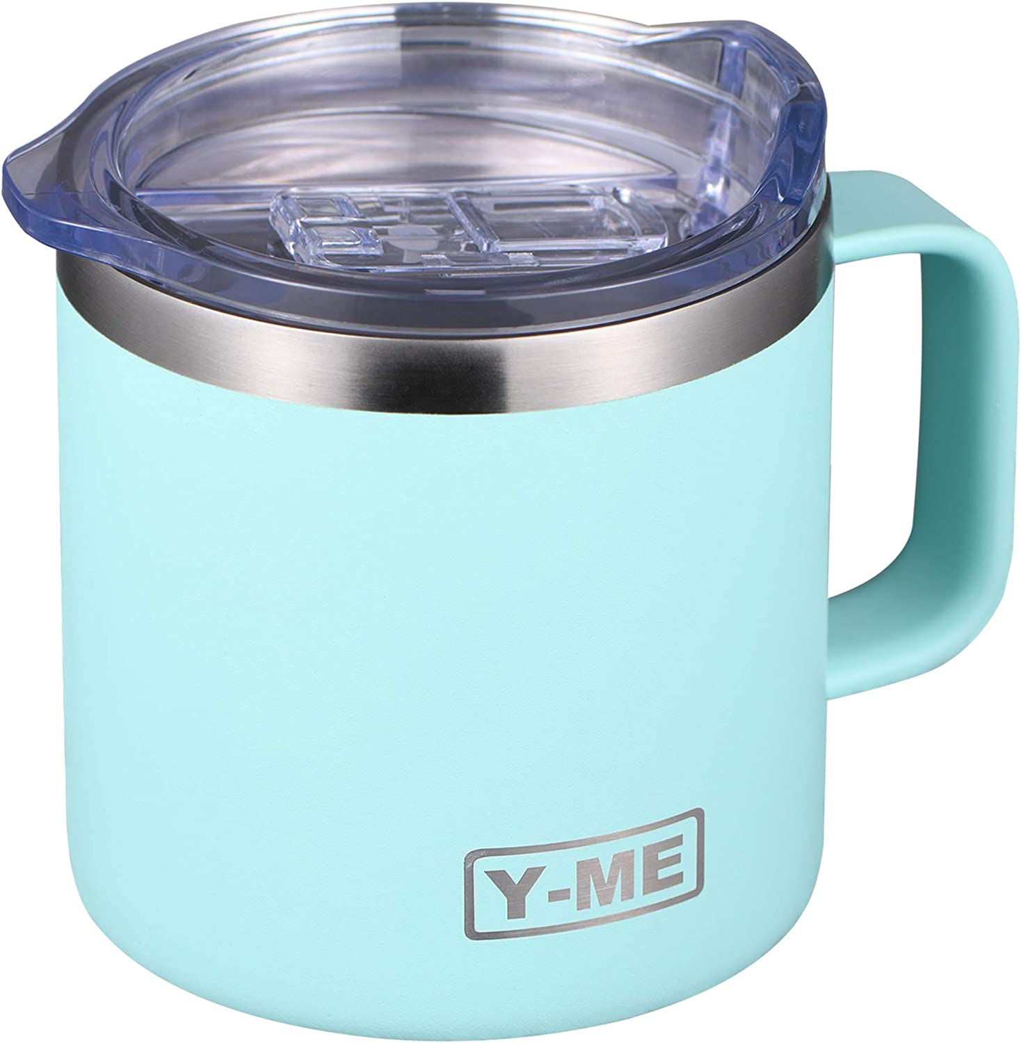 Y-ME Stainless Steel Insulated Coffee Mug Tumbler with Handle,Double Wall Tumbler Cup with Lid in the Office or Camping