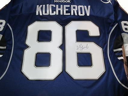 Nikita Kucherov Autographed Tampa Bay Lightning Jersey W PROOF ... 9f108013d