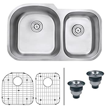 Ruvati Rvm4600 Undermount 16 Gauge 34 Quot Kitchen Sink Double Bowl