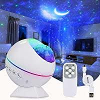 Perkisboby Portable Star Projector, Night Light Projector with Remote Control, LED Nebula Cloud, Moon, Super Silent, 360…