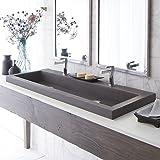 Handcrafted Rectangular Bath Sink in Slate