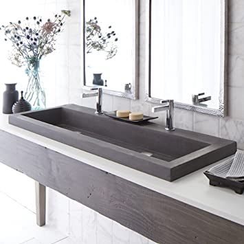 Handcrafted Rectangular Bath Sink in Slate