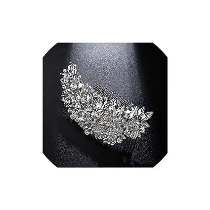 Leaf Shape Bridal Hair Combs Luxurious Crystal Rhinestone