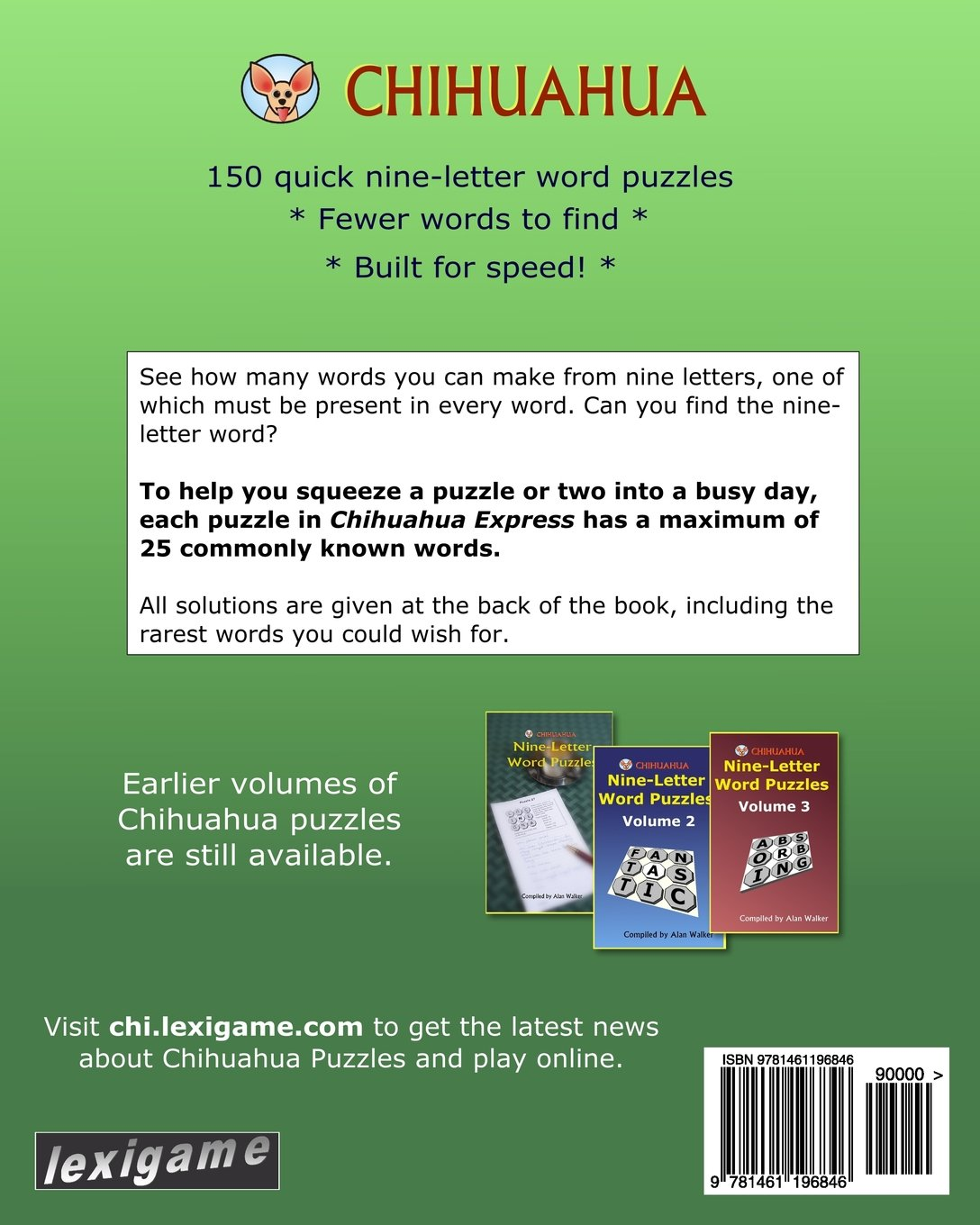 Chihuahua Express 150 Quick Nine Letter Puzzles Alan Walker