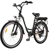 ANCHEER 26' Electric City Bike, Removable 12.5Ah Lithium-ion Battery Pack Integrated with Frame, 35 Miles Range and Dual…