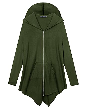 53e750f51e9 Urban CoCo Women s Plus Size Hooded Sweatshirt Jacket Cape Style ...