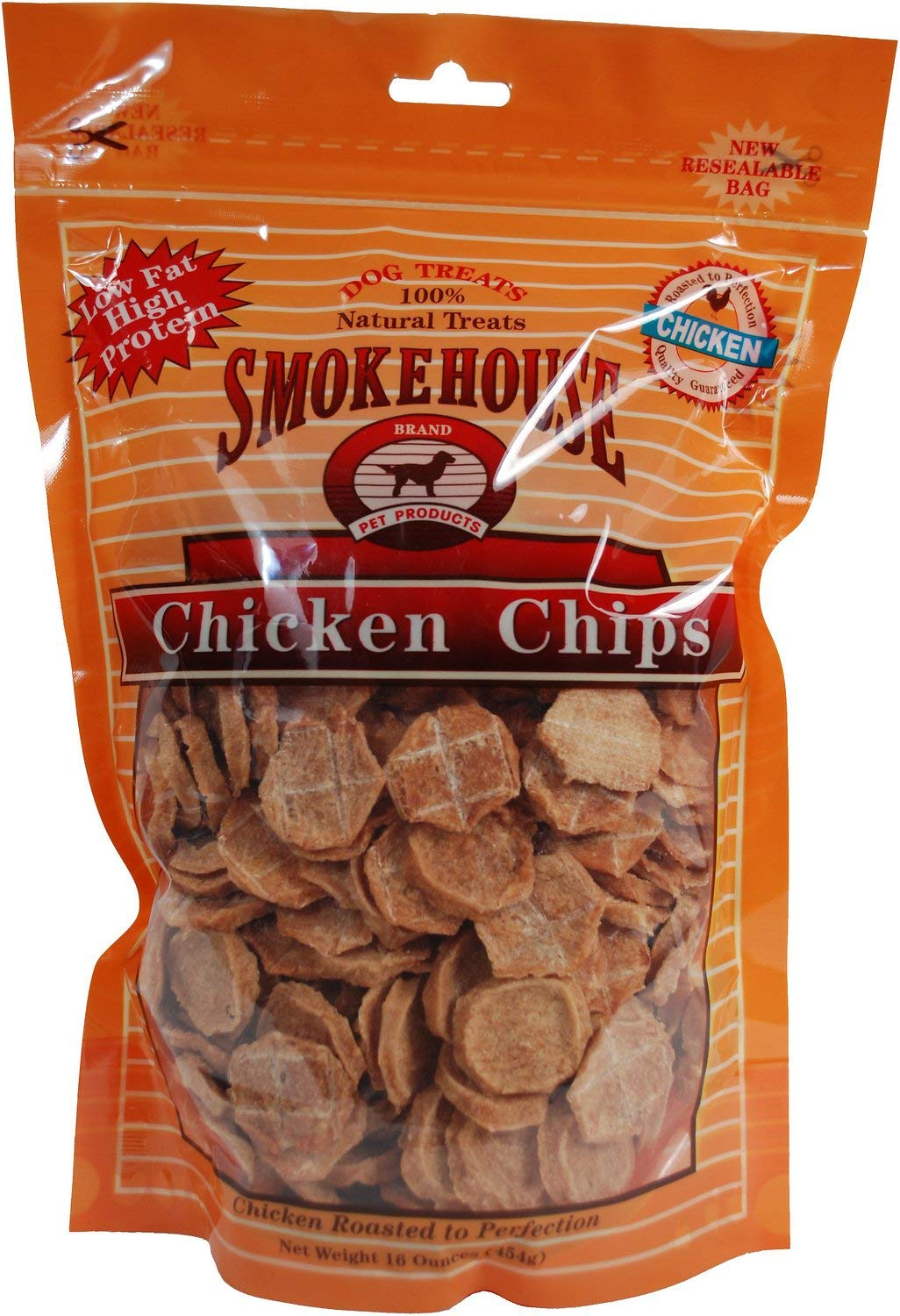 Smokehouse Chicken Chips Dogs Treats, Small, 16 Ounce, 12 Pack