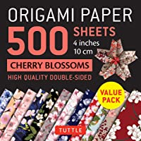 Origami Paper 500 Sheets Cherry Blossoms 4 (10 CM): Tuttle Origami Paper: High-Quality Double-Sided Origami Sheets…