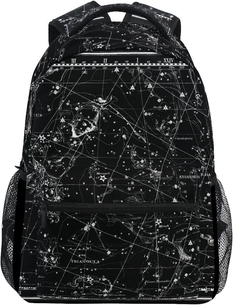 AHOMY School Backpack World Map Constellation College Book Bag Travel Rucksack