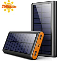 AOPAWA Cargador Solar 26800mAh Batería Externa Portátil, [Versión Ecológica] Power Bank Solar Gran Capacidad con 2…