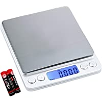Digital Kitchen Scale Multifunction Food Scale, 500g/0.01g Small Portable Electronic Precision Scale, Food Scale with…